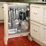 Наполнение кухонных шкафов: варианты и механизмы