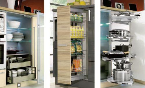 Варианты наполнения кухонных шкафов