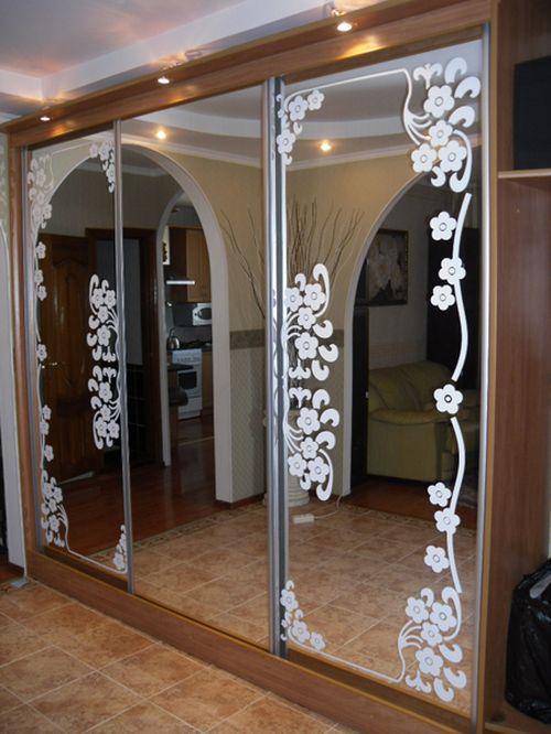 Декор для зеркала шкафа купе своими руками 503