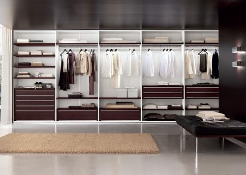 Наполнение шкафа для одежды