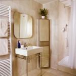 Напольные угловые шкафы для ванной комнаты: фото подборка