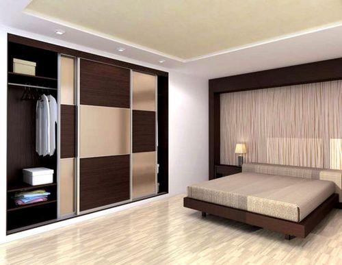 Встроенный шкаф в спальной
