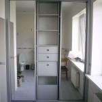 Встроенный шкаф в ванной комнате: идеи и виды
