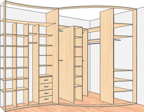 Выбираем схему шкафа